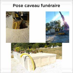 pose de caveau funéraire dans cimetière en beton aix marseille