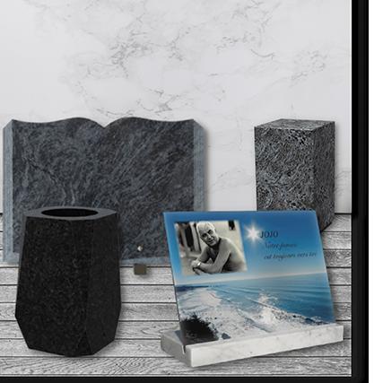 plaque funeraire en granit personnalisé